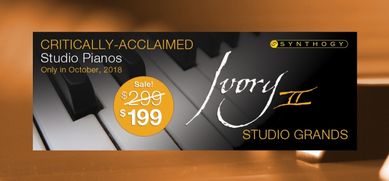 Save $100 off Ivory II Studio Grands - October Only!